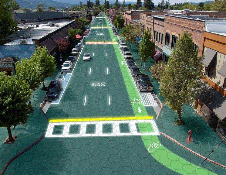 Умная дорога из солнечных батарей Solar Roadways